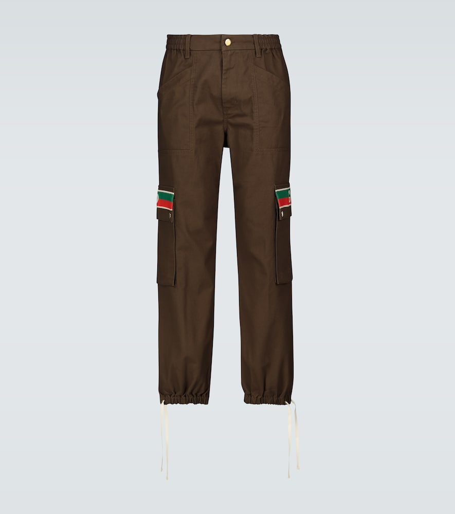 Interlocking G striped cargo pants
