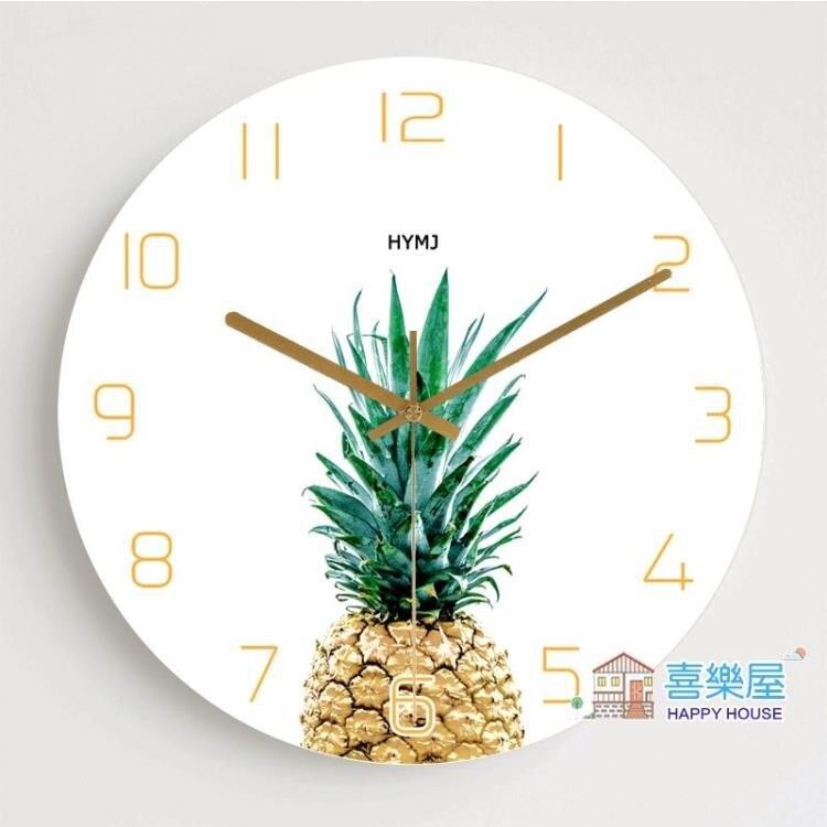 掛鐘 鐘表掛鐘客廳創意北歐式時鐘臥室現代簡約田園家用個性靜音石英鐘