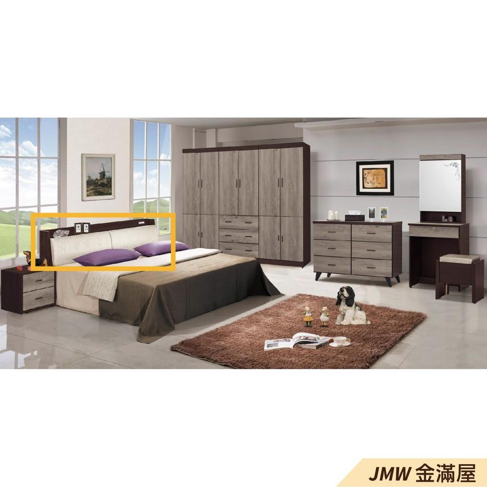 [免運]標準雙人5尺 床頭片 床頭櫃 單人床片 貓抓皮 亞麻布 貓抓布金滿屋r026-1 -