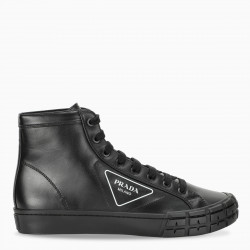 Prada Men's black high-top Cassetta Weel sneakers