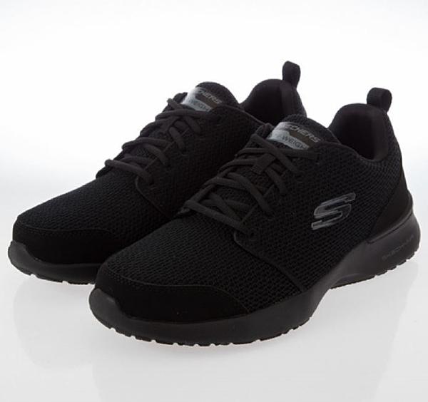 SKECHERS系列-SKECH-AIR DYNAMIGHT男鞋黑色寬楦運動慢跑鞋-No.52787WBBK