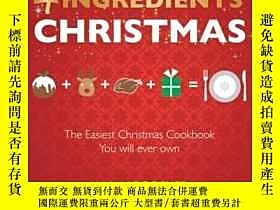 二手書博民逛書店4罕見Ingredients Christmas 聖誕節美味食譜