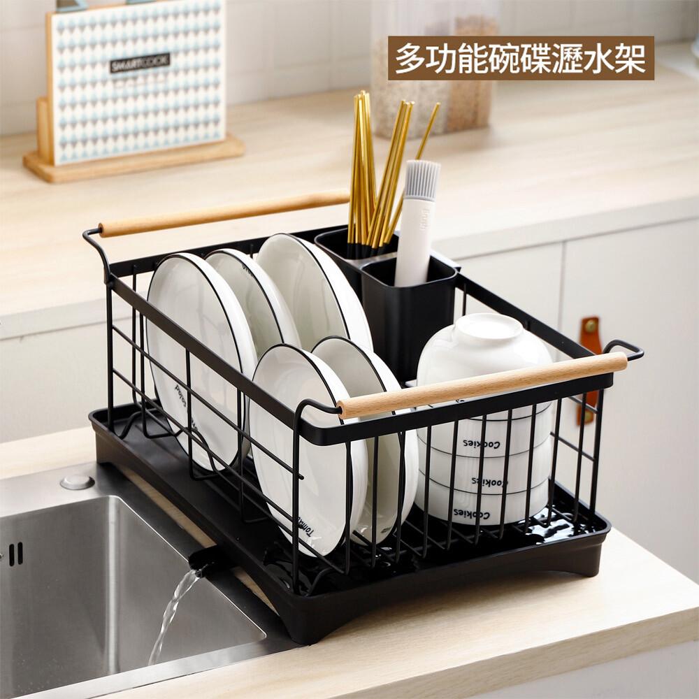日式簡約不鏽鋼碗盤瀝水架( 碗盤收納架置物架瀝水架 )