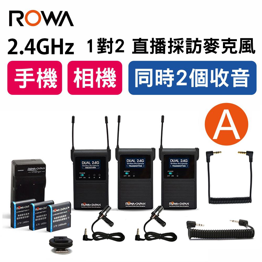 ROWA‧JAPAN RW-2401S 一對二 採訪無線麥克風-A餐