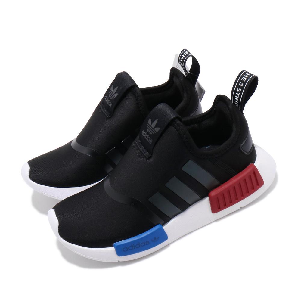 ADIDAS 休閒鞋 NMD 360 流行款 運動 童鞋 愛迪達 三葉草 OG配色 親子鞋 大童 黑藍紅 [EE6352]