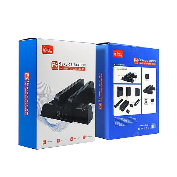 PS4 PRO / PS4 SLIM / PS4 三合一多功能散熱底座 風扇+雙充+碟架