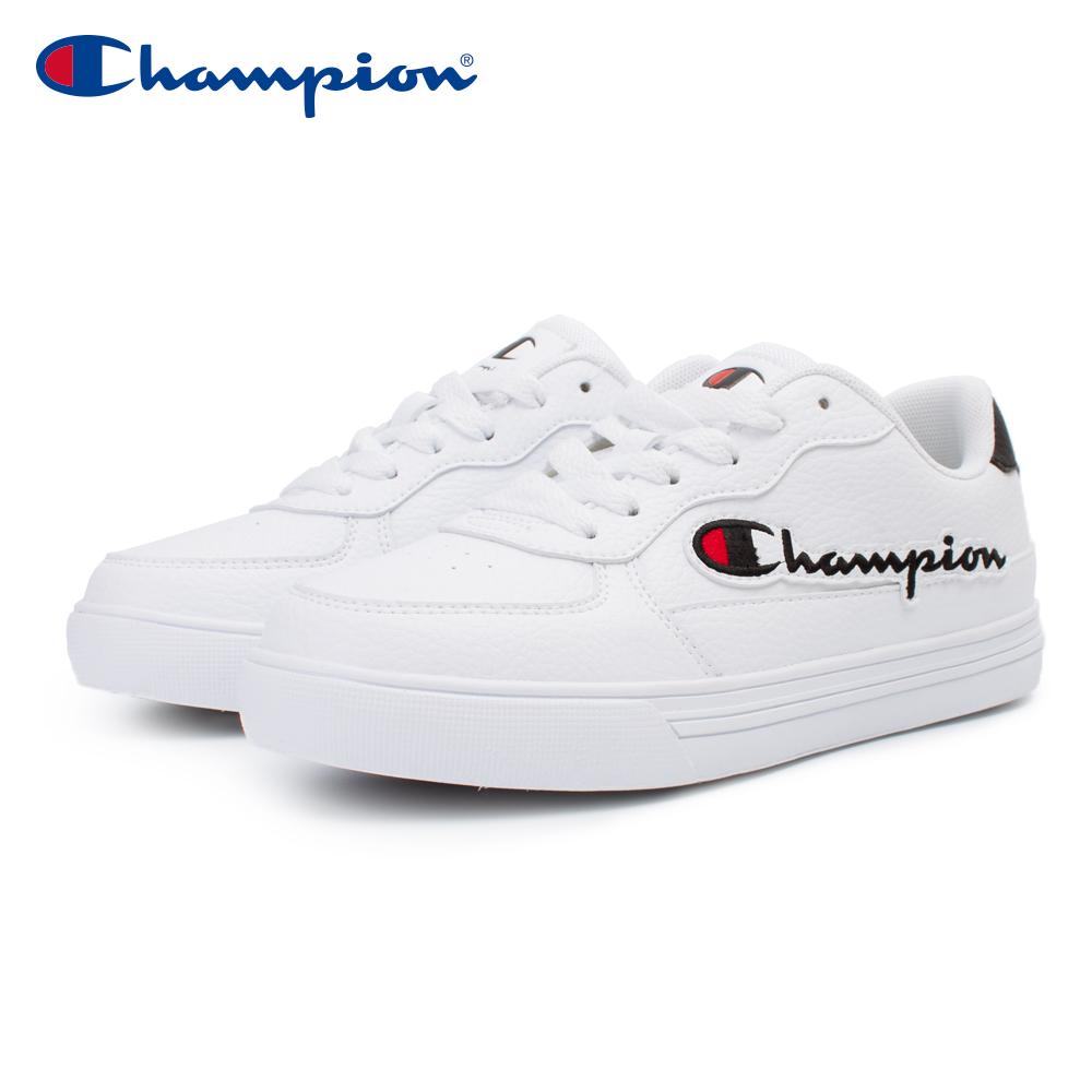 【Champion】C-YESS 經典小白鞋 男鞋-白/黑(MSUS-0001-01)