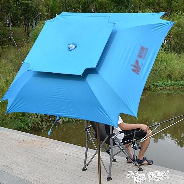 2米/2.2米萬向鋁桿透氣釣魚傘遮陽傘戶外漁具垂釣沙灘傘防紫外線 ATF 夏季新品