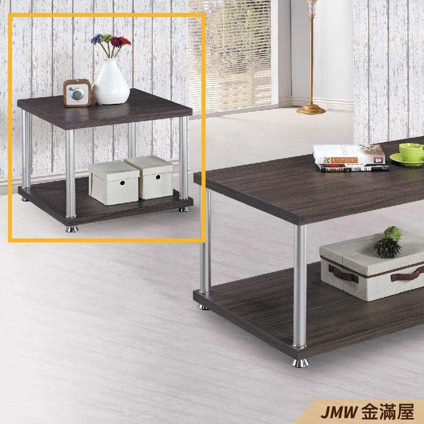 寬60cm客廳茶几 北歐工業風桌金滿屋實木原木玻璃 大理石長方桌 邊几 圓桌-r195-4 -