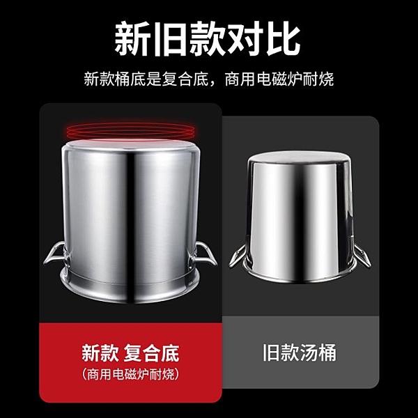 珍珠鍋 加厚不銹鋼奶茶桶帶蓋商用湯桶圓桶煮珍珠煮茶鍋奶茶店專用大容量 宜品居家