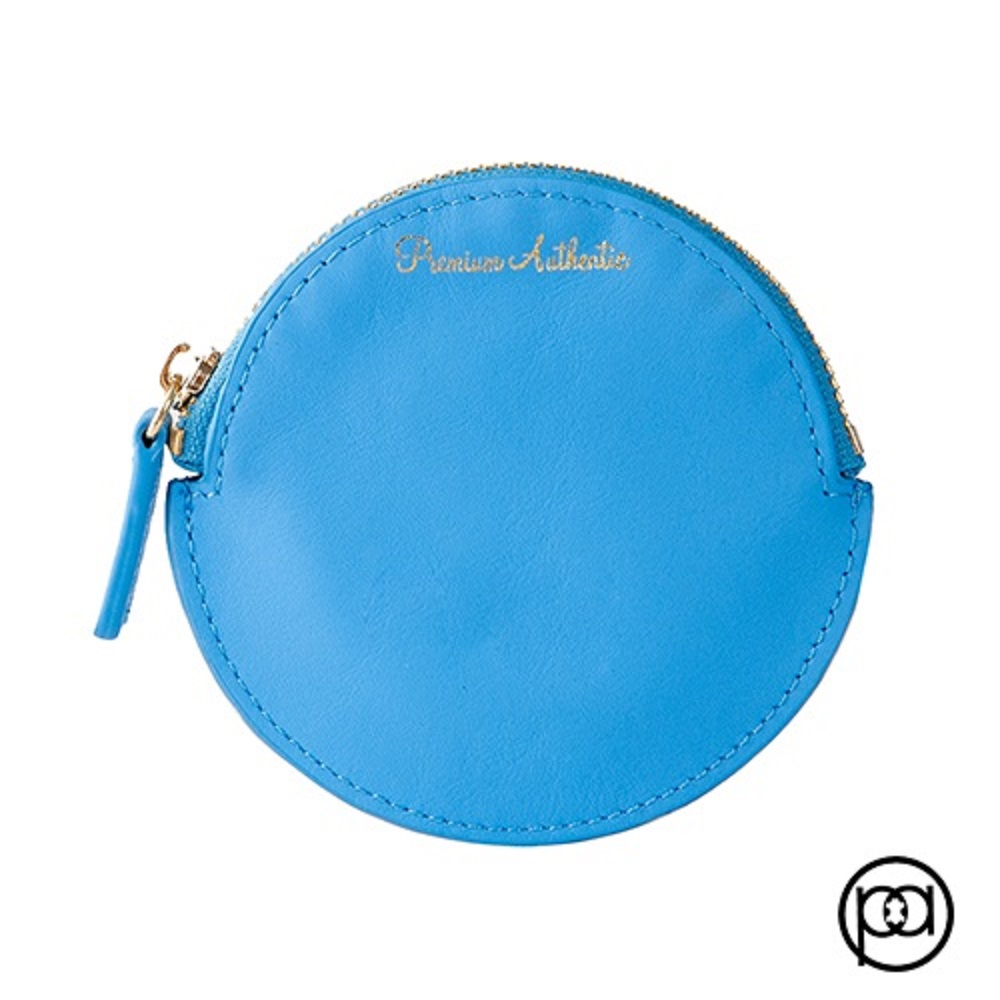 Premium Authentic 圓形零錢包(水藍色)