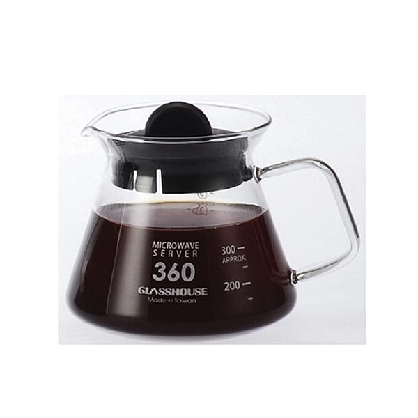 耐熱咖啡花茶壺360ml/玻璃把