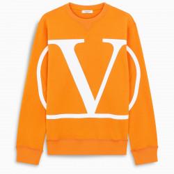 Valentino Orange VLOGO sweatshirt
