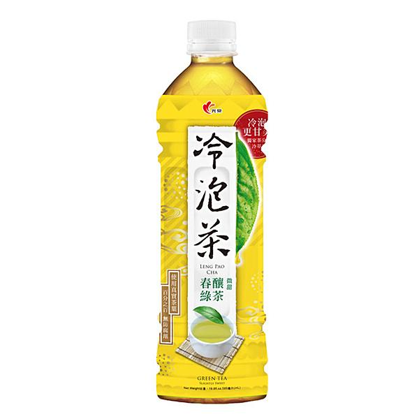 【免運直送】光泉冷泡茶585ml-春釀綠茶(24瓶/箱) 【合迷雅好物超級商城】-02