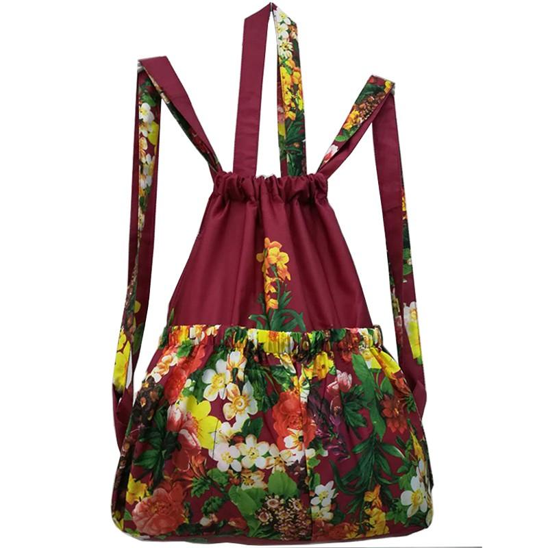 尼龍後背包 Z 正韓時尚潮流印花尼龍背包歐美百搭三用包新品雙肩包女小包包