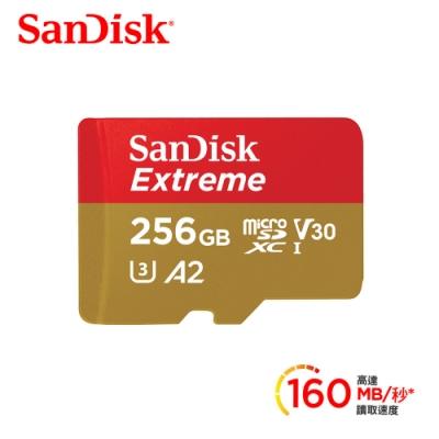 SanDisk Extreme microSDXC 手遊記憶卡 256G (公司貨)