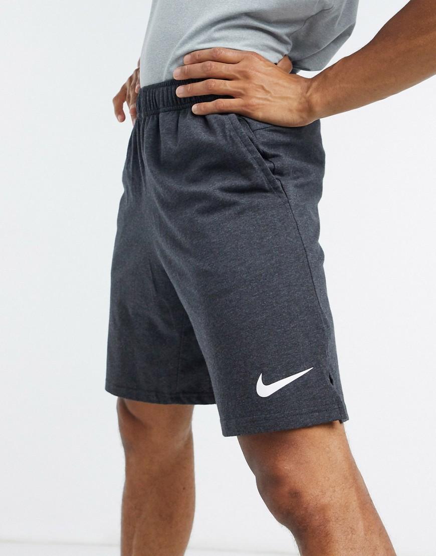 Nike Training Dri-FIT cotton shorts in black