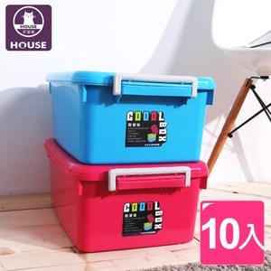 【HOUSE】3Q小酷寶箱18.5L/掀蓋/衣物收納櫃/置物盒(10入