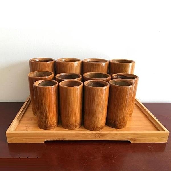 竹罐火罐炭化竹罐竹制拔火罐家用竹吸筒竹筒火罐竹子拔罐【快速出貨】