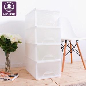 【HOUSE】白色中方塊四層收納櫃68L