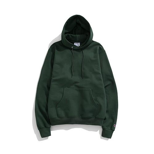 Champion 【S70014】服飾 S700 帽T 長袖連帽T恤 刷毛 美規 高磅數 深綠色 男女都可穿
