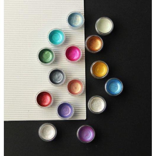 KUSAKABE珍珠光固體水彩顏料/ 偏光藍 誠品eslite