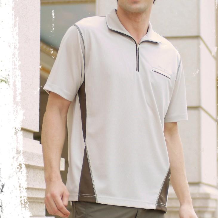 【RATOPS 瑞多仕】男 COOLMAX排汗衣 DB8367灰卡其色/吸濕快乾/抗紫外線/涼感衣/野雁戶外/M零碼出清