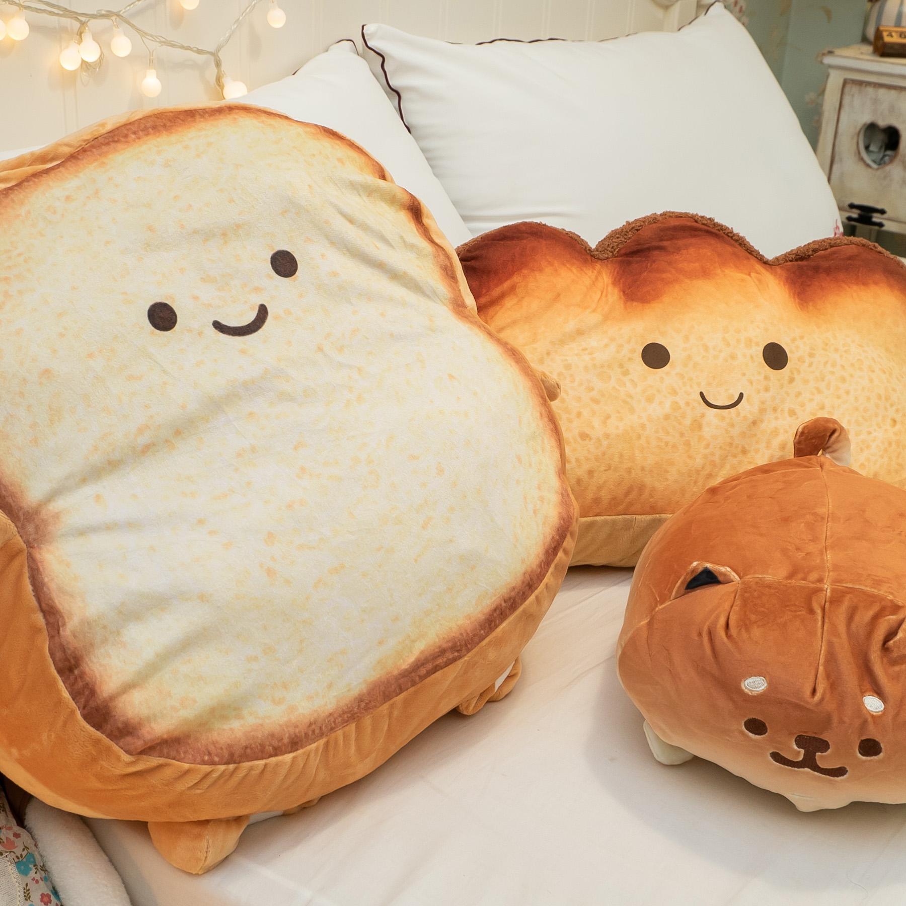 麵包家族抱枕 三種角色可選 可愛爆表 超療癒【棉床本舖】