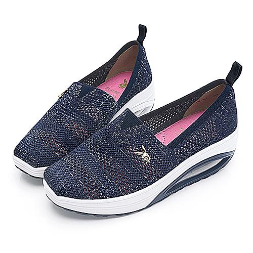 PLAYBOY 活力核心 透氣網布鏤空休閒鞋-藍(Y6262)