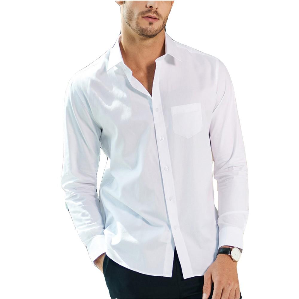 CPMAX 立領白襯衫 商務休閒襯衫 男款白襯衫 長袖襯衫 立領襯衫 正裝襯衫 休閒襯衫 白襯衫 襯衫【B42】
