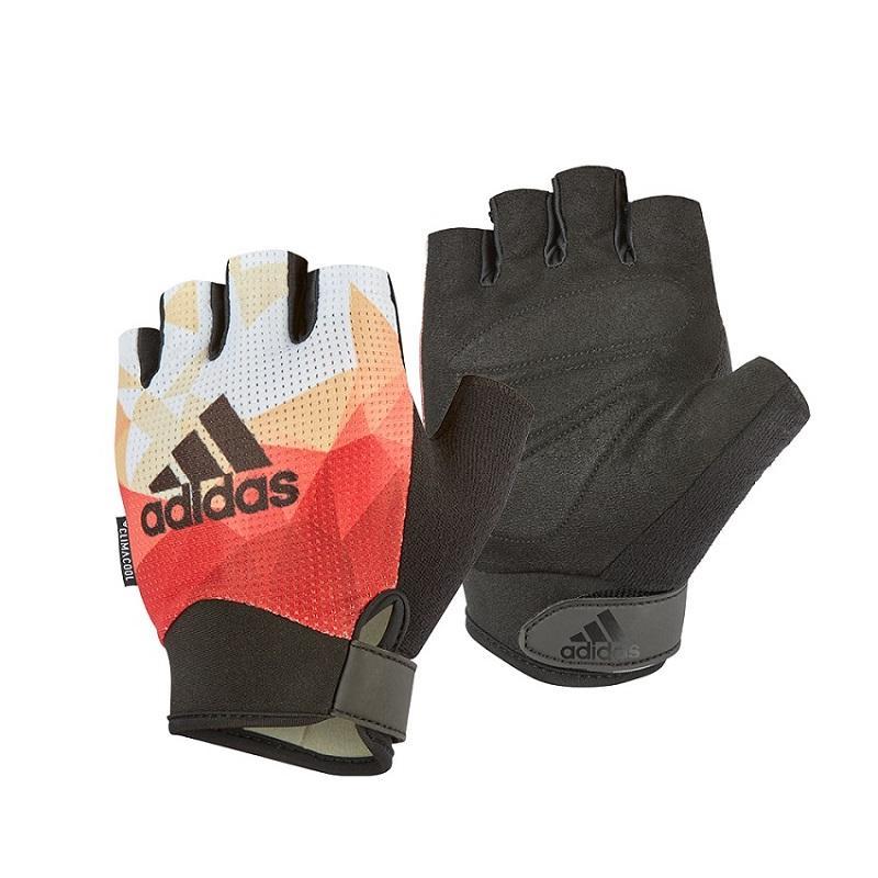 Adidas專業女用透氣防滑手套(煥彩橙)