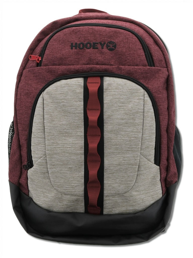 """HOOey """"Ox"""" Maroon/Grey Print with Hat Strap - Backpack"""