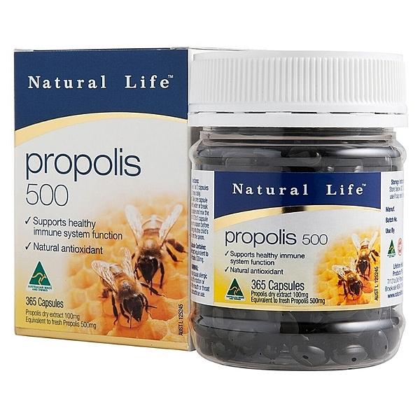 澳洲蜂膠膠囊500mg(365粒)【澳洲Natural Life】買多更優惠