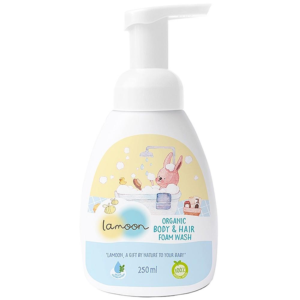 Lamoon baby 有機洗髮沐浴泡泡 250ml