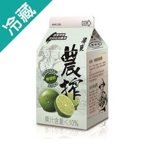 農搾檸檬飲375ML /瓶【愛買冷藏】