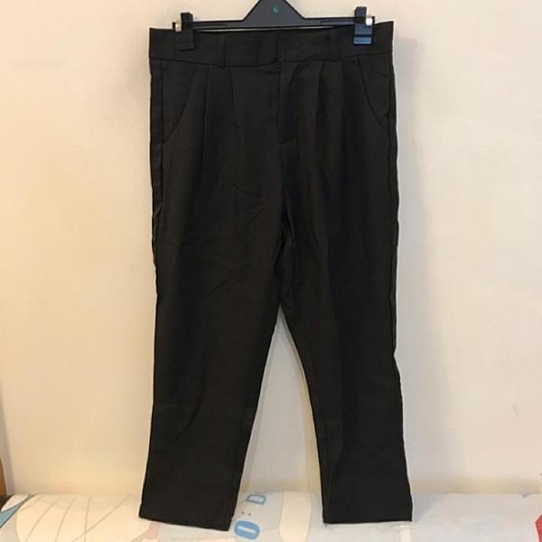 韓版百搭基本款高腰顯瘦休閒褲(M號/222-3513)