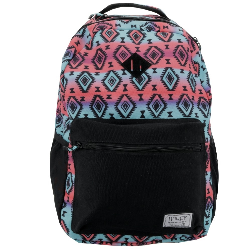 """HOOey """"Recess"""" Pink and Turquoise Aztec Print - Backpack"""