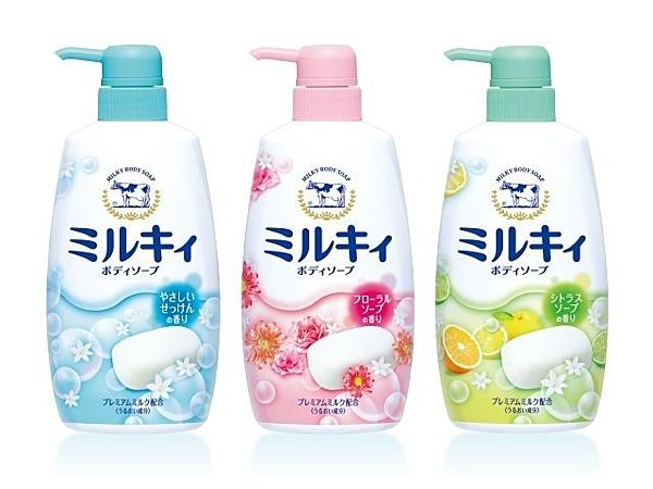 日本 牛乳石鹼 沐浴乳 溫和皂香 綜合花香 柚子香 550ml【七三七香水精品】