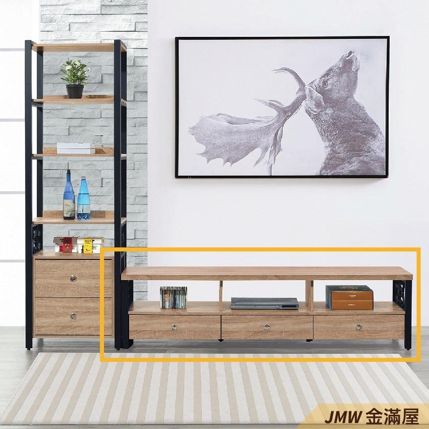181cm 尺電視櫃金滿屋客廳組合長櫃 展示收納櫃 北歐工業風 tv櫃-q411-1 -