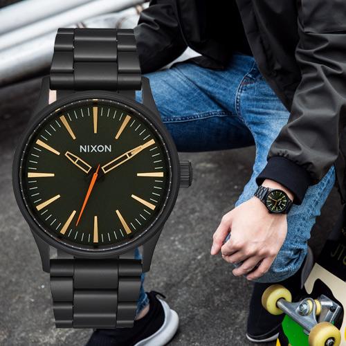 【限時下殺!】現貨 NIXON  A450-1032 THE Sentry 38 SS 瑞士機芯 手錶 熱賣中!