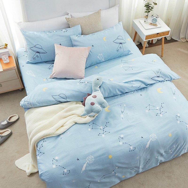 床包被套組-雙人 / 奧地利天絲四件式 / 星中宇宙 台灣製