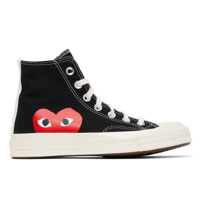Comme des Garcons Play 黑色 Converse 联名 Chuck 70 Half Heart 高帮运动鞋