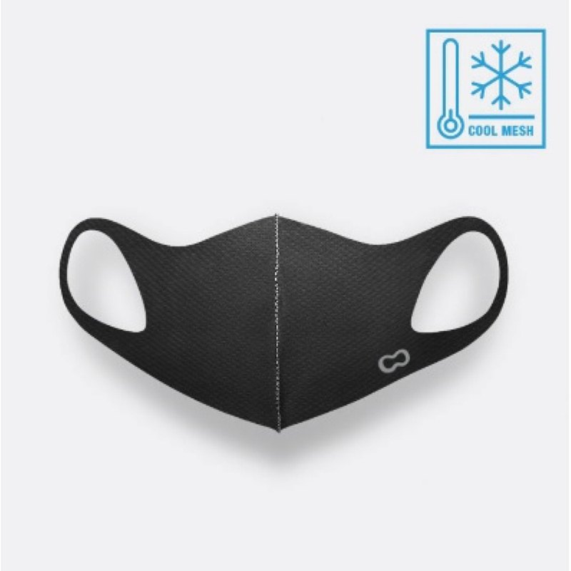 LeMASKA 韓國涼感口罩 時尚口罩 KF80 _ 黑 (可重複使用)