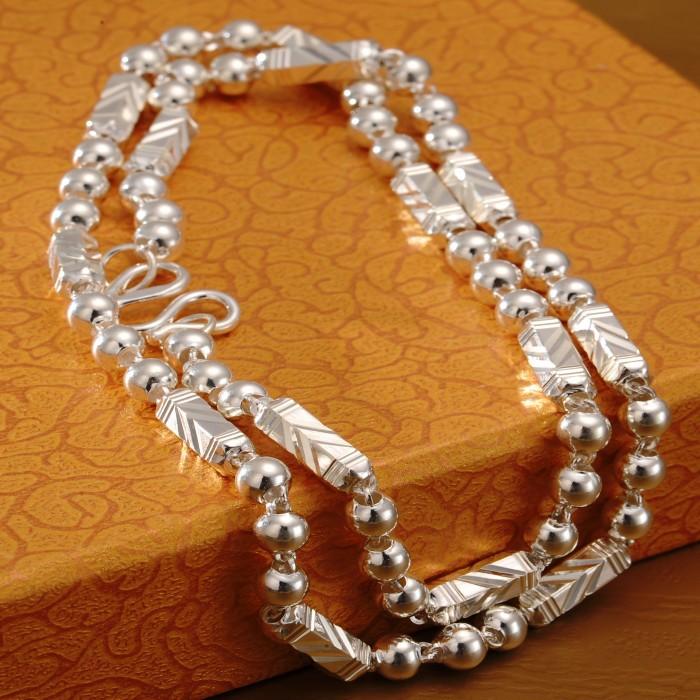 正品S999純銀男士項鏈時尚霸氣粗款白銀六角鏈子銀飾禮物送男友