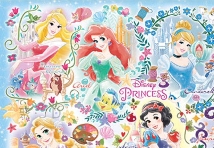【P2拼圖】Disney Princess 公主(1) 拼圖 1000片HPD01000-063