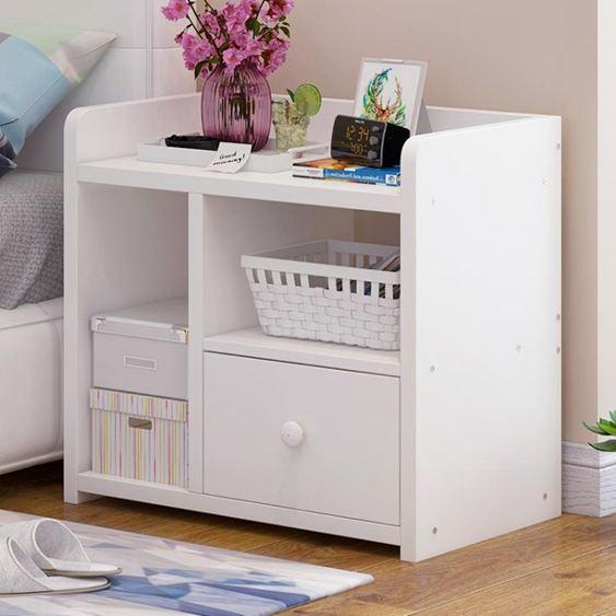 床頭櫃簡易床頭柜簡約現代臥室置物架床邊小柜子收納迷你小儲物柜經濟型