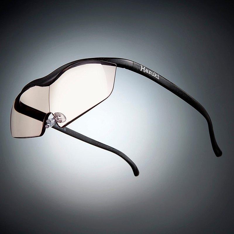 日本Hazuki眼鏡式放大鏡1.32倍 茶色鏡片 黑