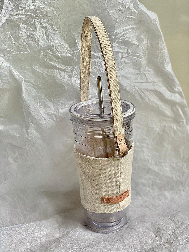 TREE & FRUITS  環保杯套 帆布 飲料提袋 (免費印字)