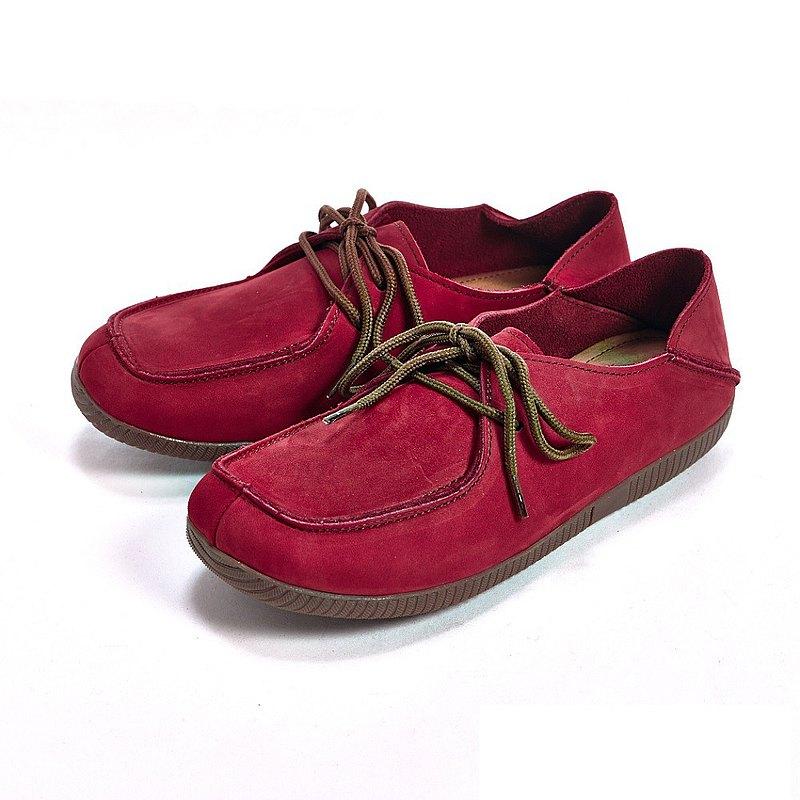 WALKING ZONE(女)可踩式雙穿休閒女鞋-紅(另有藍、棕)