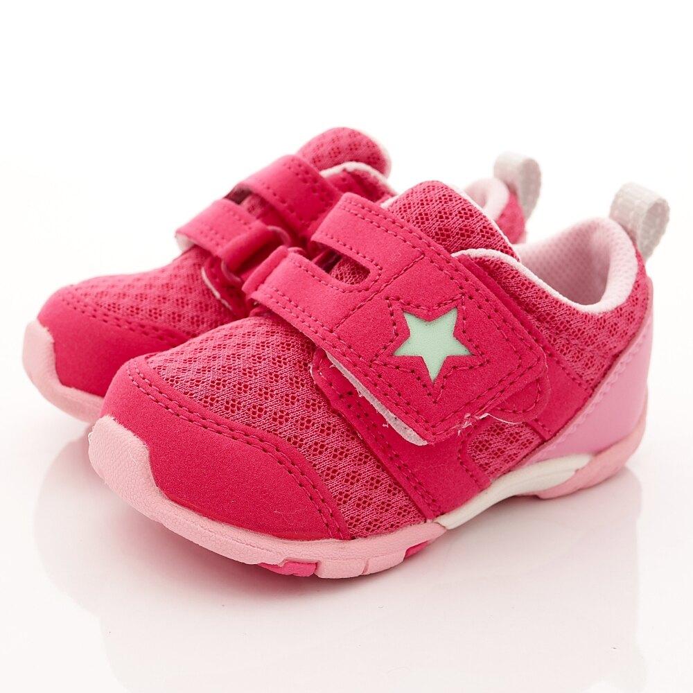 日本月星Moonstar機能童鞋-兒茶素抗菌防臭881桃紅(寶寶段)